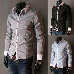 Peibo - Contrast-Trim Shirt