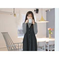Envy Look - Button-Front Pinafore Dress