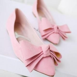 SV Footwear - Bow-Accent Pointy Flats