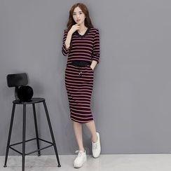 Romantica - Set: Striped Top + Skirt