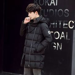 Still Homme - Hooded Long Padded Jacket