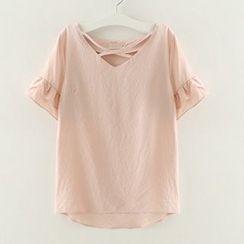 Meimei - 皱摺短袖上衣