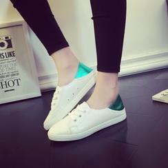 Yoflap - Contrast Heel Tab Sneakers