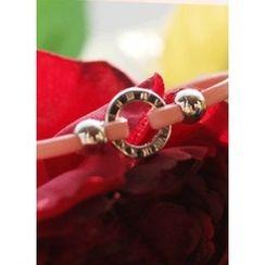 kitsch island - Metallic Faux-Leather Bracelet