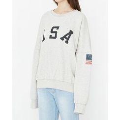 Someday, if - Lettering Oversized Sweatshirt