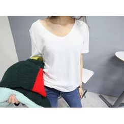 MARSHMALLOW - Round-Neck T-Shirt