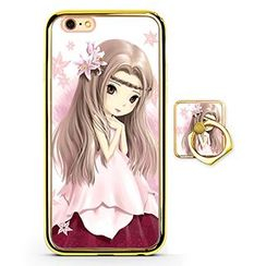 Kindtoy - Cartoon Girl Print Mobile Case - iPhone 6 / 6 Plus