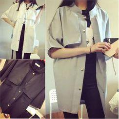 QZ Lady - Mock-Neck Trench Coat