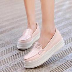 Tomma - 魚鱗壓紋厚底輕便鞋