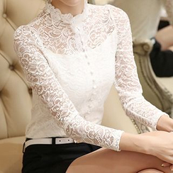 lilygirl - Long-Sleeve Lace Top