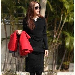 SO Central - Slim-Fit Knit Long Dress