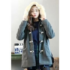 Dalkong - Faux-Fur Toggle-Button Jacket