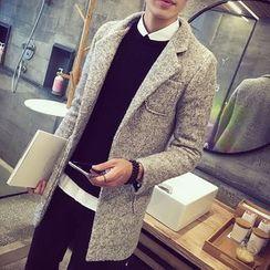 T for TOP - Wool Blend Melange Coat