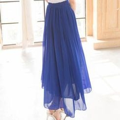 Lace Girl - Chiffon Maxi Skirt