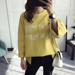 efolin - Lettering 3/4 Sleeve T-Shirt