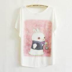 LULUS - Rabbit-Print Loose-Fit T-Shirt