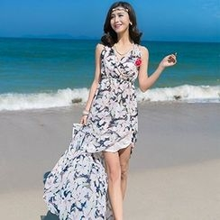 Fashion Street - 碎花雪纺沙滩裙