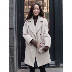maybe-baby - Notched-Lapel Wool Blend Coat