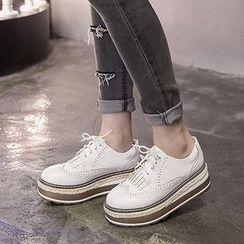 Monde - Brogue Platform Oxfords