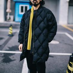 YIDESIMPLE - Argyle Long Puffer Coat