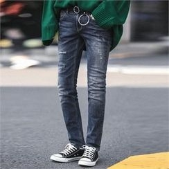 Superstar.i - Washed Slim-Fit Jeans