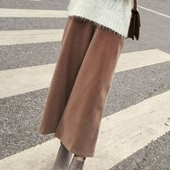Honeydew - Plain Cropped Woolen Wide Leg Pants