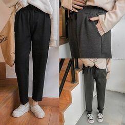 Zzang Girls - Plain Drawstring Pants