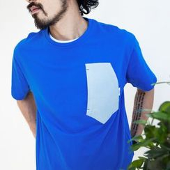 YIDESIMPLE - Asymmetric-Pocket T-Shirt