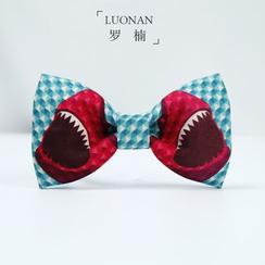 Luonan - 鲨鱼图案蝴蝶领结