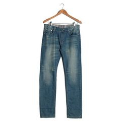 YesStyle M - Washed Distressed Jeans