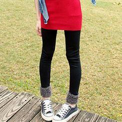 Tokyo Fashion - Faux-Fur Trim Leggings