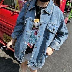 Windflower - 寬鬆牛仔布夾克