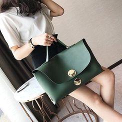 Q.BAISE - Faux Leather Handbag