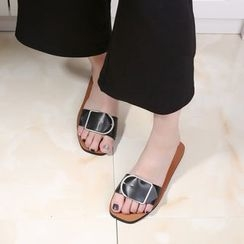 Micha - Buckled Slide Sandals