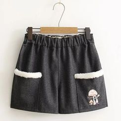Angel Love - Mushroom Embroidered Shorts