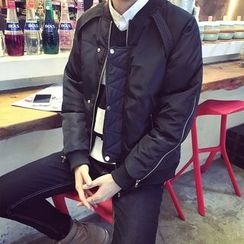 qiaqiayes - Side Zip Detailed Padded Bomber Jacket