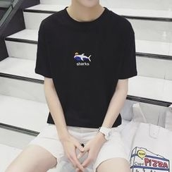 ZZP HOMME - Embroidered Short-Sleeve T-Shirt