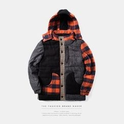 Newin - Patchwork Hooded Coat