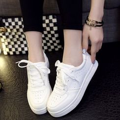 HOONA - Platform Lace-Up Sneakers
