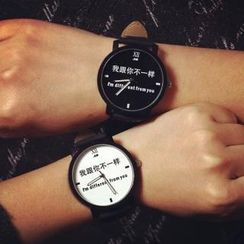 Tacka Watches - Lettering Couple Strap Watch