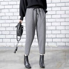Sonne - Cropped Wool Harem Pants