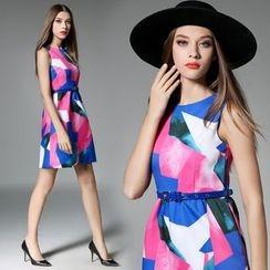 Diosa - Sleeveless Printed Dress