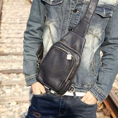 Yiku - Faux Leather Sling Bag