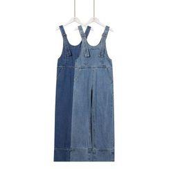 Momewear - Wide-Leg Suspender Jeans