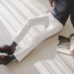 JUSTONE - Fray-Hem Straight-Cut Pants