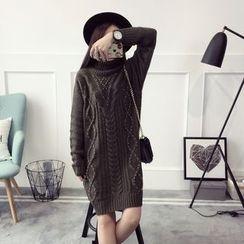 Qimi - Ribbed Long Knit Top
