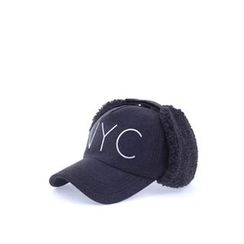 Ohkkage - Lettering Fleece Ear Flap Cap