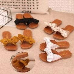 IYATO - Bow-Accent Flat Slide Sandals