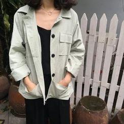 MePanda - Plain Button Jacket