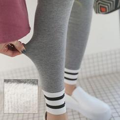 PPGIRL - Contrast-Trim Leggings